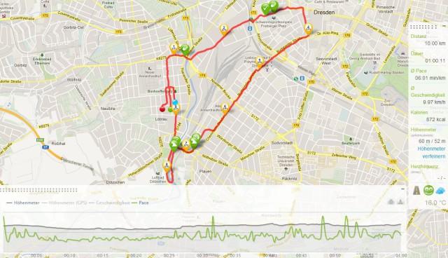 10 Km Lauf durch Dresden