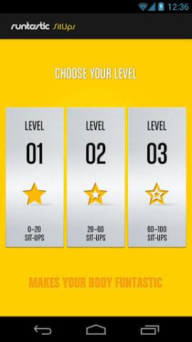 runtastic SitUps Pro App Level