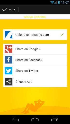 runtastic SitUps Pro Social Networks