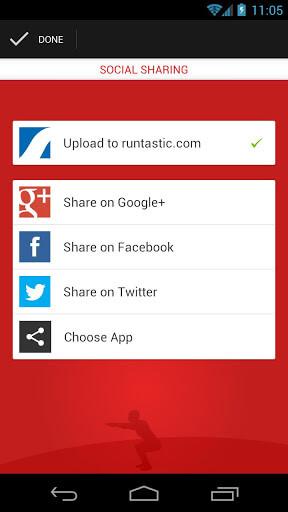 runtastic Squats Pro Social Networks