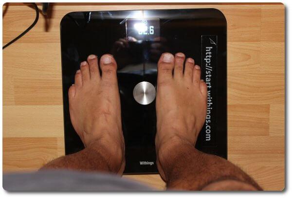 Gewichtskontrolle mit der withings WiFi Körperfettwaage