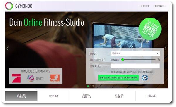 Gymondo Online Fitness-Studio
