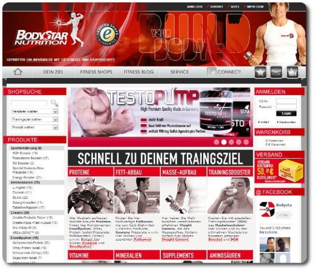 Muskelaufbau Unterstützung von bodystar.de