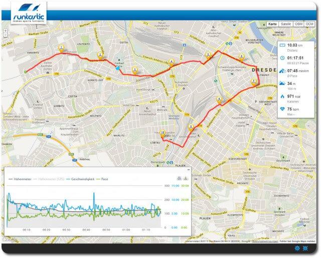 10 km langsamer Dauerlauf GA 1
