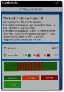 Workout mit hoher Intensität