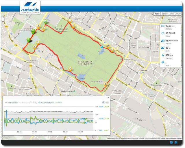 10 km Lauf GA 2 im Großen Garten