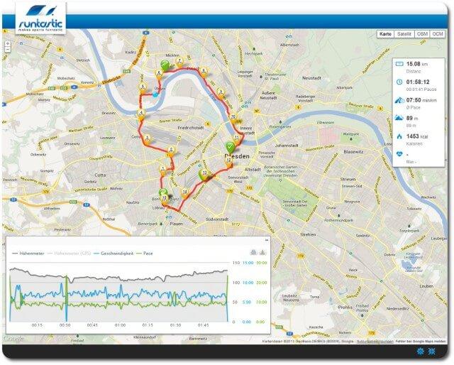 15 km langsamer Dauerlauf