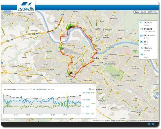 15 km lockerer Dauerlauf GA 2