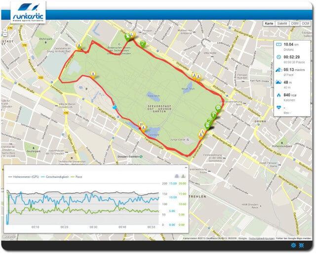 Schneller 10 km Lauf