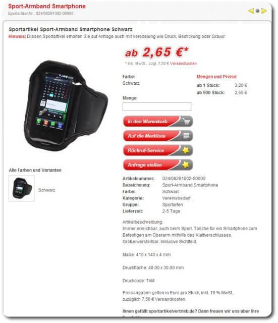 Sport-Armband Smartphone