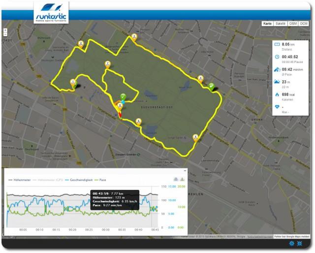 8 km GA 2 87 Prozent hf max