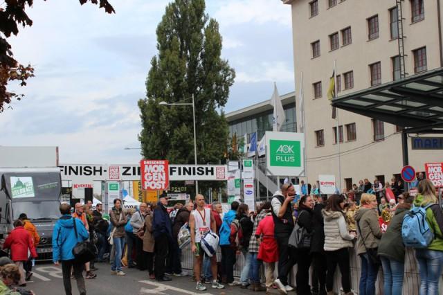Das Ziel vom Dresden Marathon