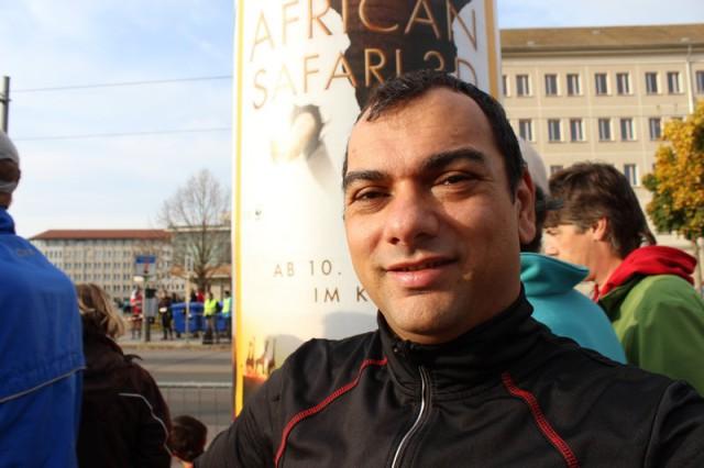 Ich vor dem Dresden Marathon
