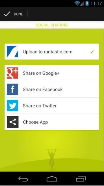 Runtastic Pull-Ups Social Sharing