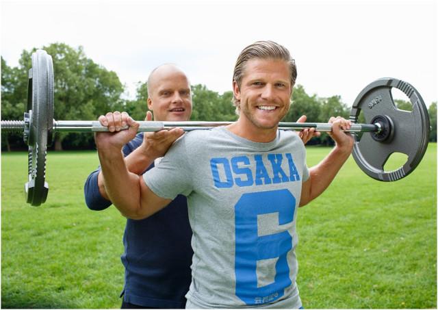 Jörn Giersberg beim Training mit Schauspieler Paul Janke