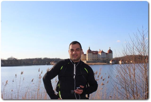 Lauf von Schloß Mortizburg nach Dresden