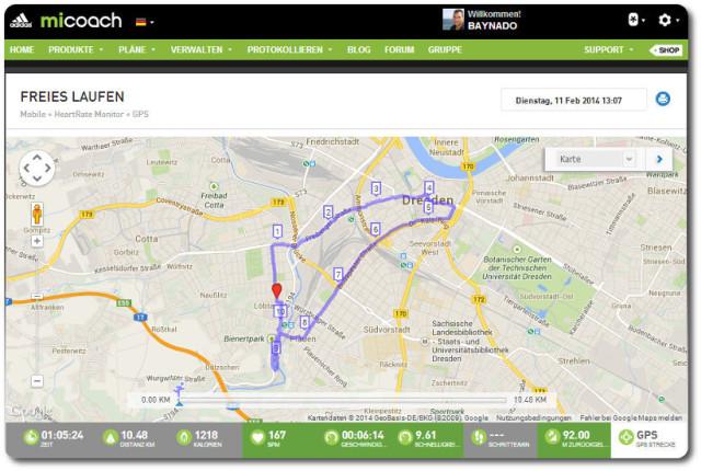 Meine 10 km Dresdner Standardrunde