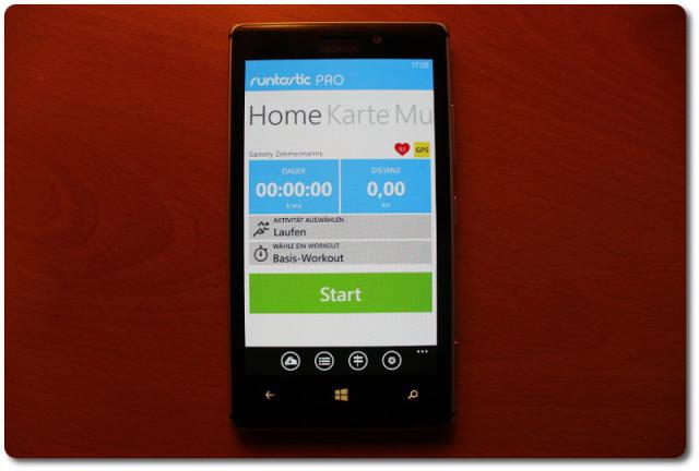 Runtastic Pro App mit Nokia Lumia 925
