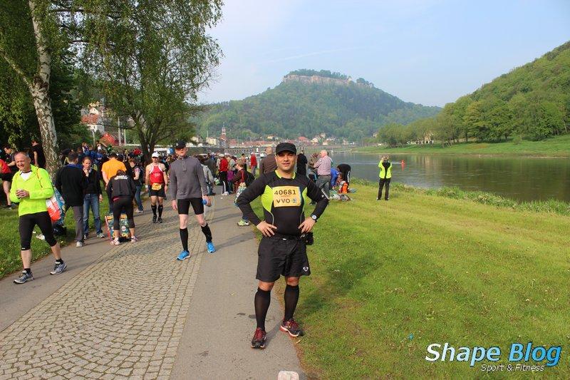 Im Hintergrund die Festung Königstein