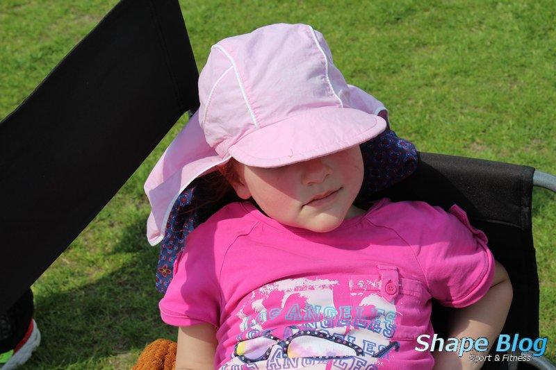 Auch meine Tochter war müde vom vielen Hüpfen.