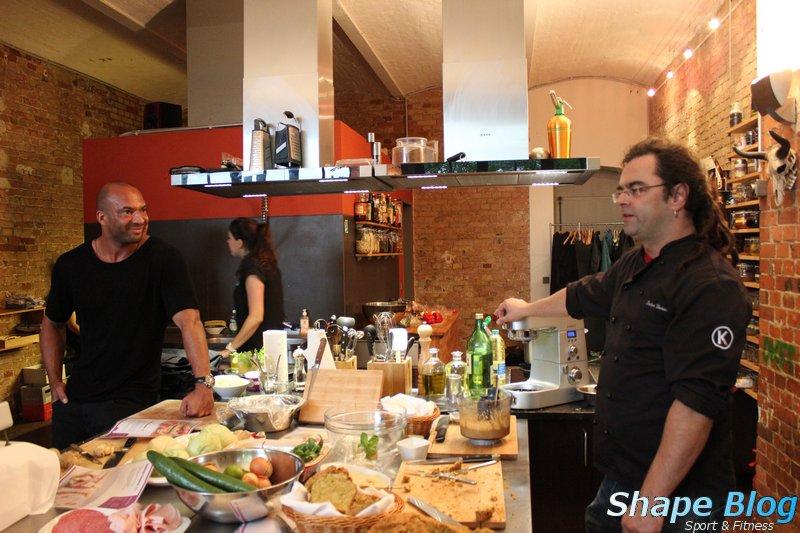 Detlef und Stefan in der Kochschule Mitte
