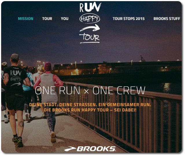 Brooks Run Happy Tour 2015