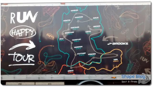Brooks Run Happy tour 2015 Karte