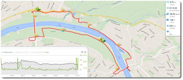 Run Happy Tour 2015 Laufstrecke Dresden