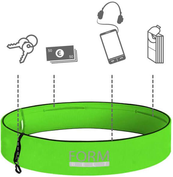 Der Formbelt für Schlüssel, Geld, Smartphone und Taschentücher