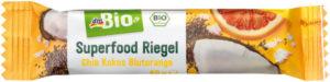 dmBio Superfood Riegel Chia Kokos Blutorange
